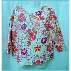 Hot Cotton Women T-Shirt Top Size S Long Sleeve